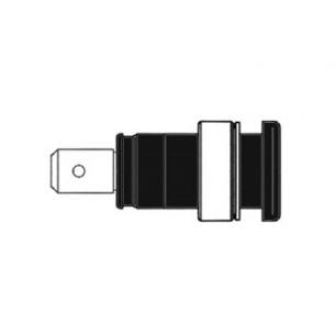 Douille de sécurité isolée 4mm (SEB 2620-F6,3)